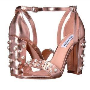 Rose Gold Pearl Heels - Steve Madden